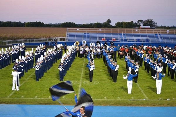 Wildcat Marching Band at Elmwood