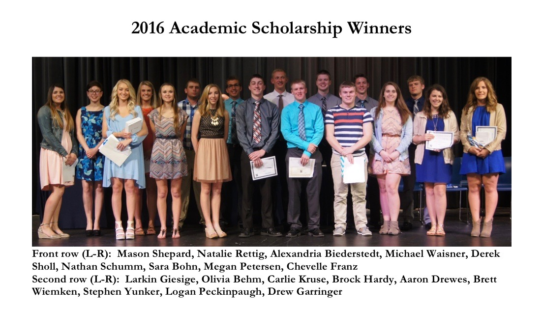 2016 Academic Scholarship Awards