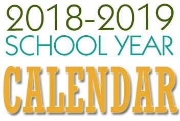 Image result for 2018-2019 school calendar
